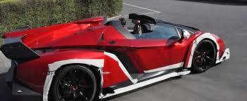 Veneno Roadster outside factory