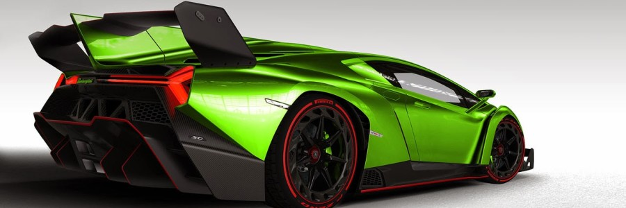 green lambo veneno roadster