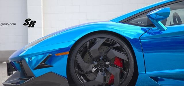Chrome Blue Aventador SR Auto PUR